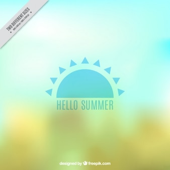 Blurred abstract background with a sun