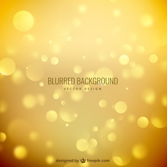 Blurred background in golden tones