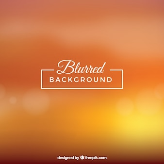 Blurred background in orange tones