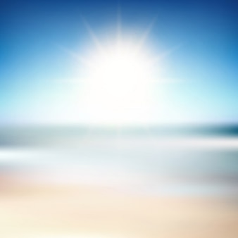 Blurred background of a beach scene