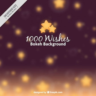 Blurred background of stars and bokeh effect