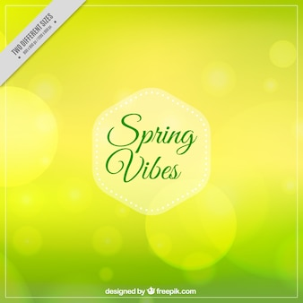 Blurred background with bokeh effect for spring