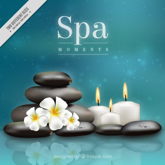 Blurred background with spa elements