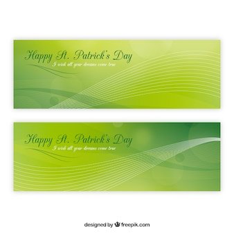 Blurred background with wavy lines for st patrick's day