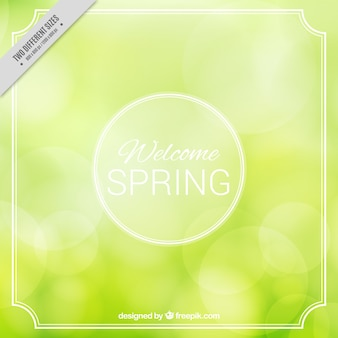 Blurred background with white frame for spring
