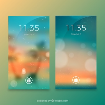 Blurred bokeh and landscape wallpapers for mobile