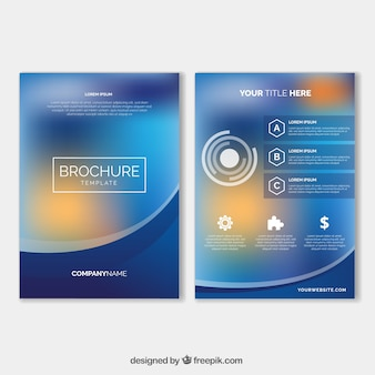 Blurred business leaflet template