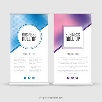 Blurred business roll up template