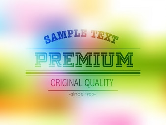Blurred colorful background design