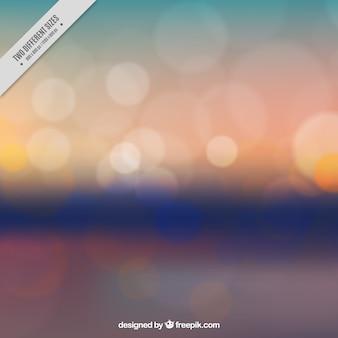 Blurred landscape background at sunset