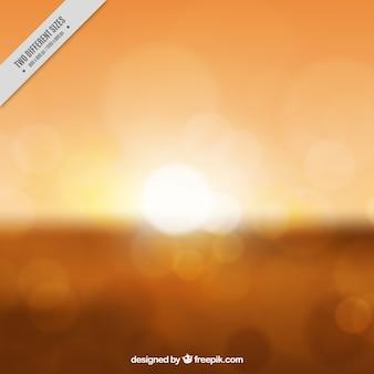 Blurred orange sunset background