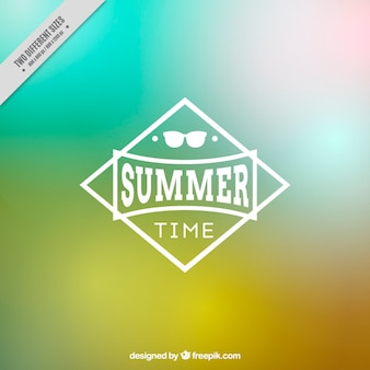 Blurred summer background in abstract style