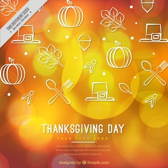 Blurred thanksgiving background with white elements