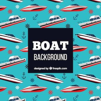 Boat pattern background