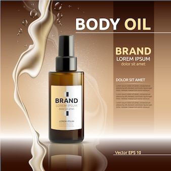Body oil advert