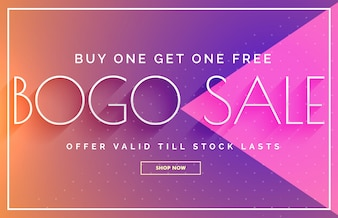 Bogo sale voucher design