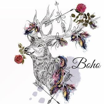 Boho background design
