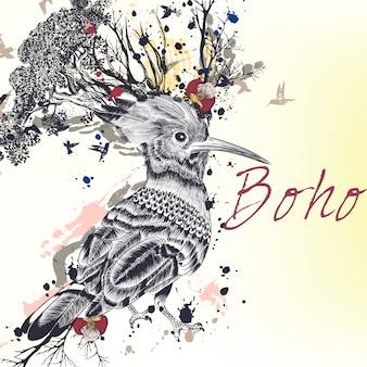 Boho background design