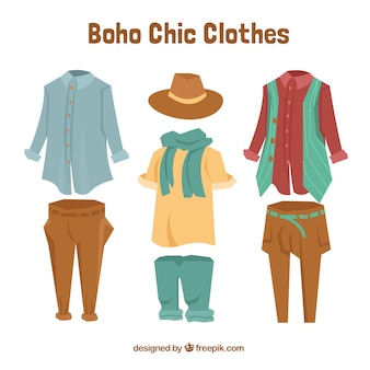 Boho chic clothes collection