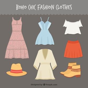 Boho chic fashion clothes