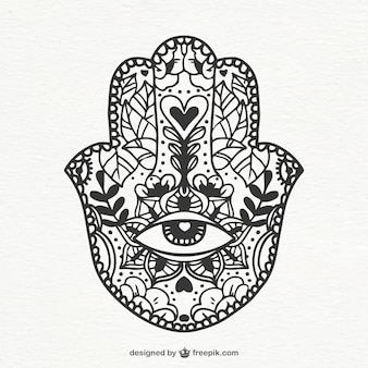 Boho ornament in hand-drawn style