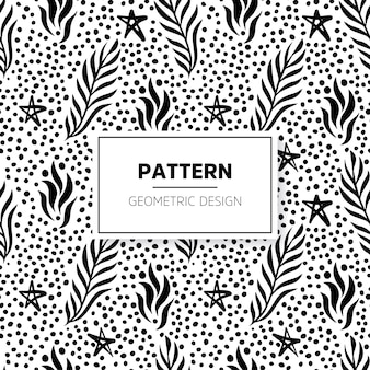Boho pattern with hand drawn elements