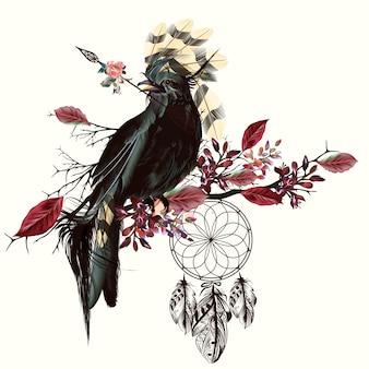 Boho style background design