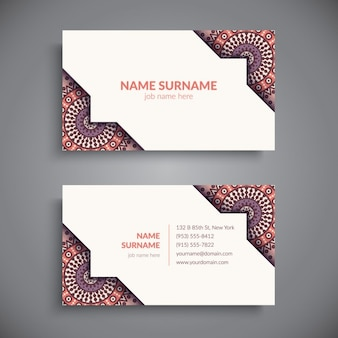 Boho style business card design