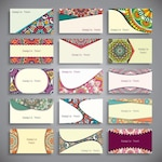 Boho style business cards collection