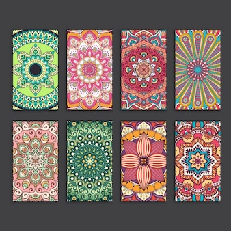 Boho style cards collection