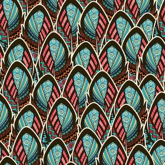 Boho style feathers design