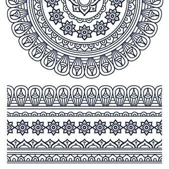 Boho style ornament design