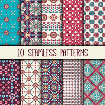 Boho style patterns collection