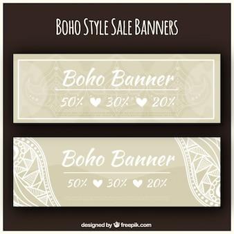Boho style sale banners