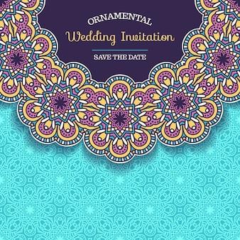 Boho style wedding invitation