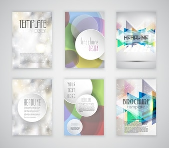 Bokeh and colorful collection of flyer