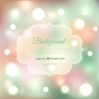 Bokeh background in green and pink tones