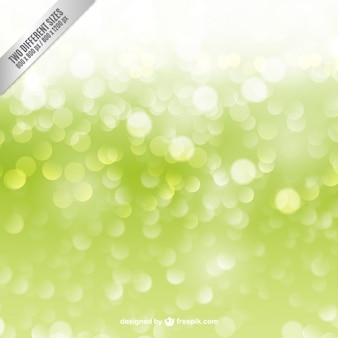 Bokeh background in green color