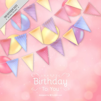 Bokeh background with birthday decoration