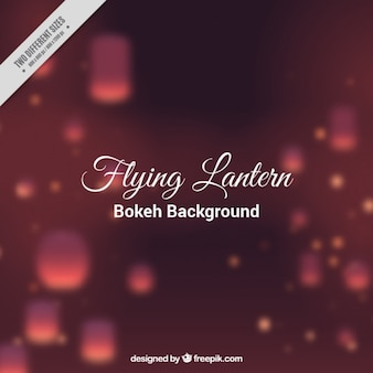 Bokeh background with blurred lanterns