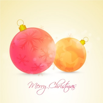 Bokeh background with decorative christmas balls