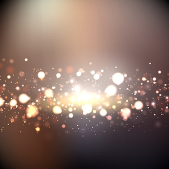 Bokeh background with golden lights