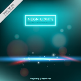 Bokeh background with shiny neon lights