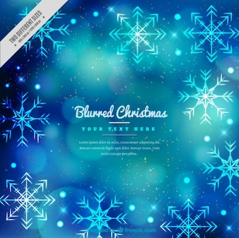 Bokeh background with snowflakes