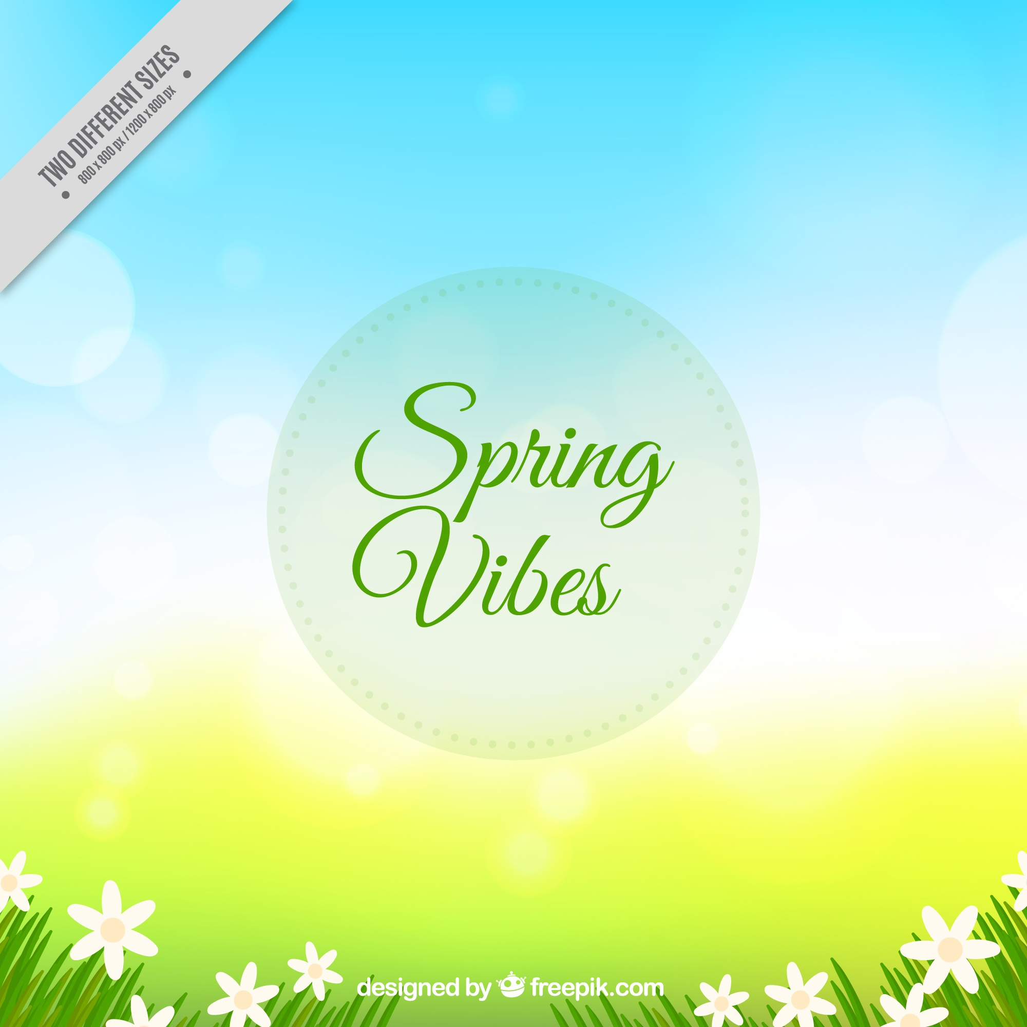 Bokeh background with spring flowers