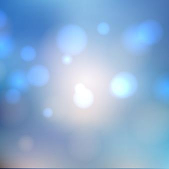 Bokeh blue background