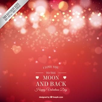 Bokeh bright background valentine day