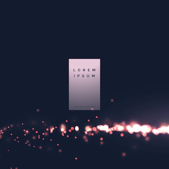 Bokeh city light effect particle background