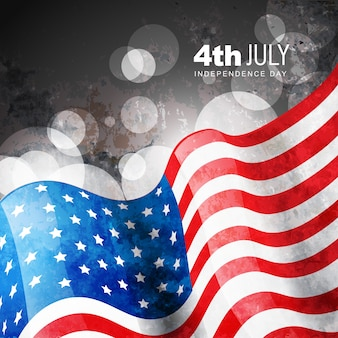 Bokeh independence day illustration