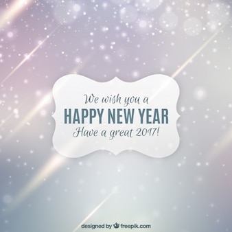 Bokeh new year background with bright shapes